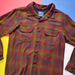 Vintage Pendleton Rider Button-Up Wool Shirt